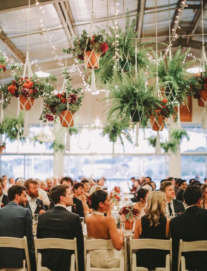 Macrame na decoração de casamento