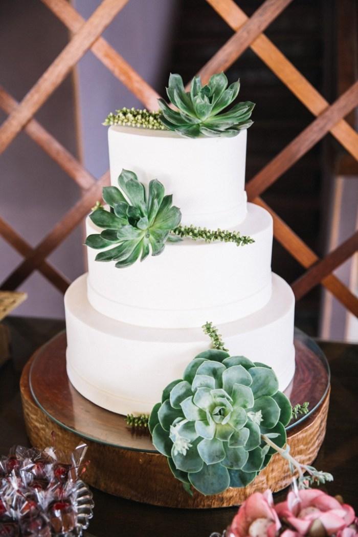 Decoração de casamento com suculentas