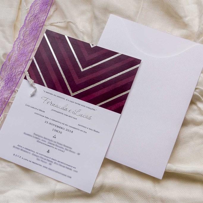 Convite com estampa geométrica