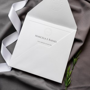 Convites para casamento minimalistaConvites para casamento minimalista