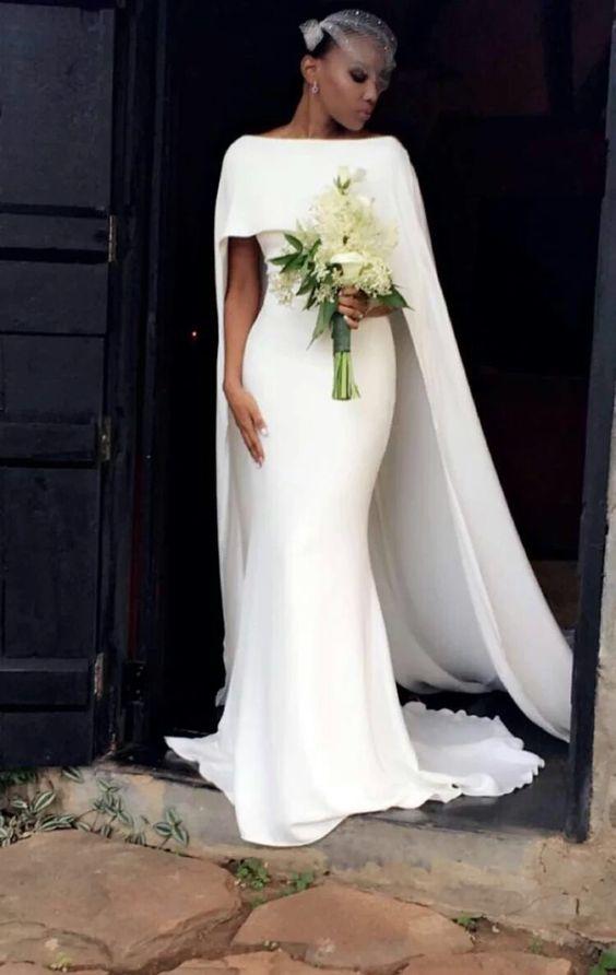 Vestido de noiva com capa