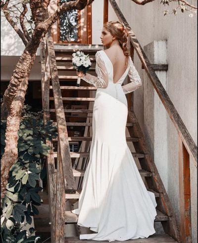 Vestido de noiva para casamento no inverno - Luit