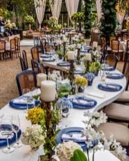 Decoração de casamento classic blue - Foto: Marcia Locações