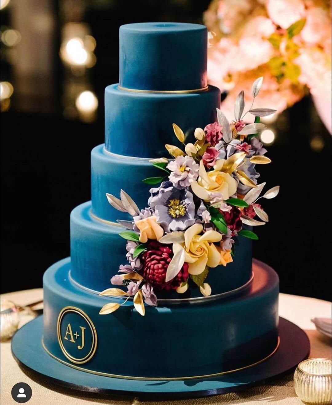 Decoração de casamento classic blue