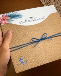 Convite de casamento classic blue