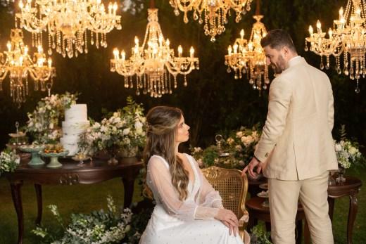 tradicionalmente no campo: casamento clássico no campo