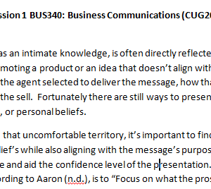 Week 5 - Discussion 1 BUS340: Business Communications (CUG2018B) ASHFORD UNIVERSITY