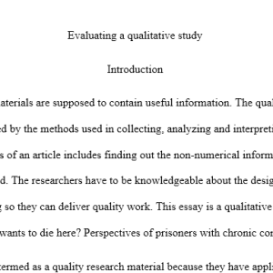 evaluating a qualitative study