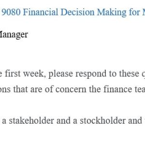 Financial Decision Making for Managers (2212)MGMT-640