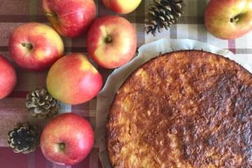 Torta di purea di mele