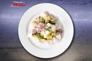 Insalata di calamari, fagiolini e patate