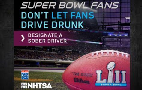 Troopers patrolling roads for drunken drivers during Super Bowl 52 weekend