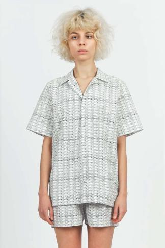 Acephala Printed Cotton Pyjama Set 2 Front