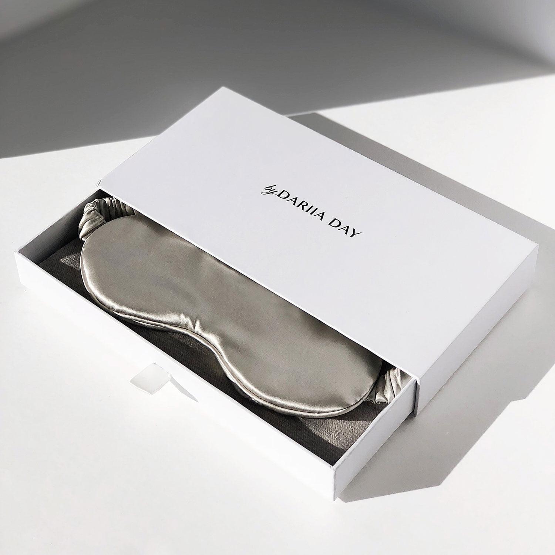 Acs Silk Eyemask Jedwabna Maska Oczy Bydariiaday Grey Szara Box