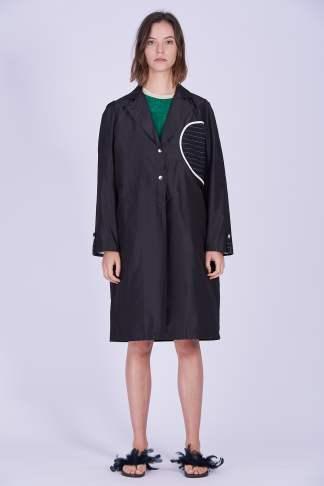 Acephala Ps2020 Black Light Coat Czarny Lekki Plaszcz Front