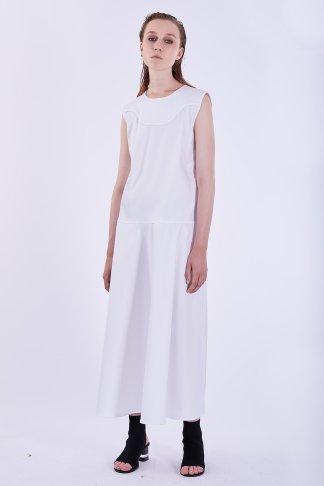 Acephala Ps2020 White Maxi Dress Biala Suknia Przyjecie Front
