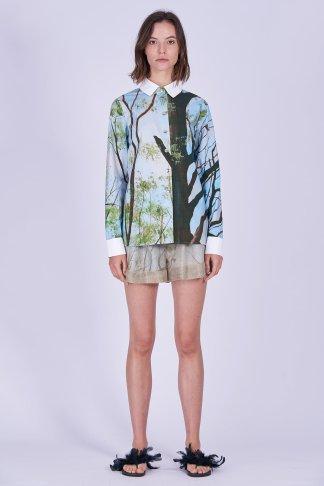 Acephala Ss2020 Printed Shirt Forest Golden Shorts Koszula Nadruk Las Zlote Szorty Front