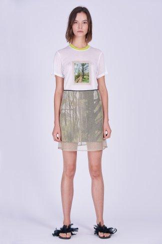Acephala Ss2020 Printed Tshirt Forest Golden Skirt Koszula Nadruk Las Zlota Spodnica Front