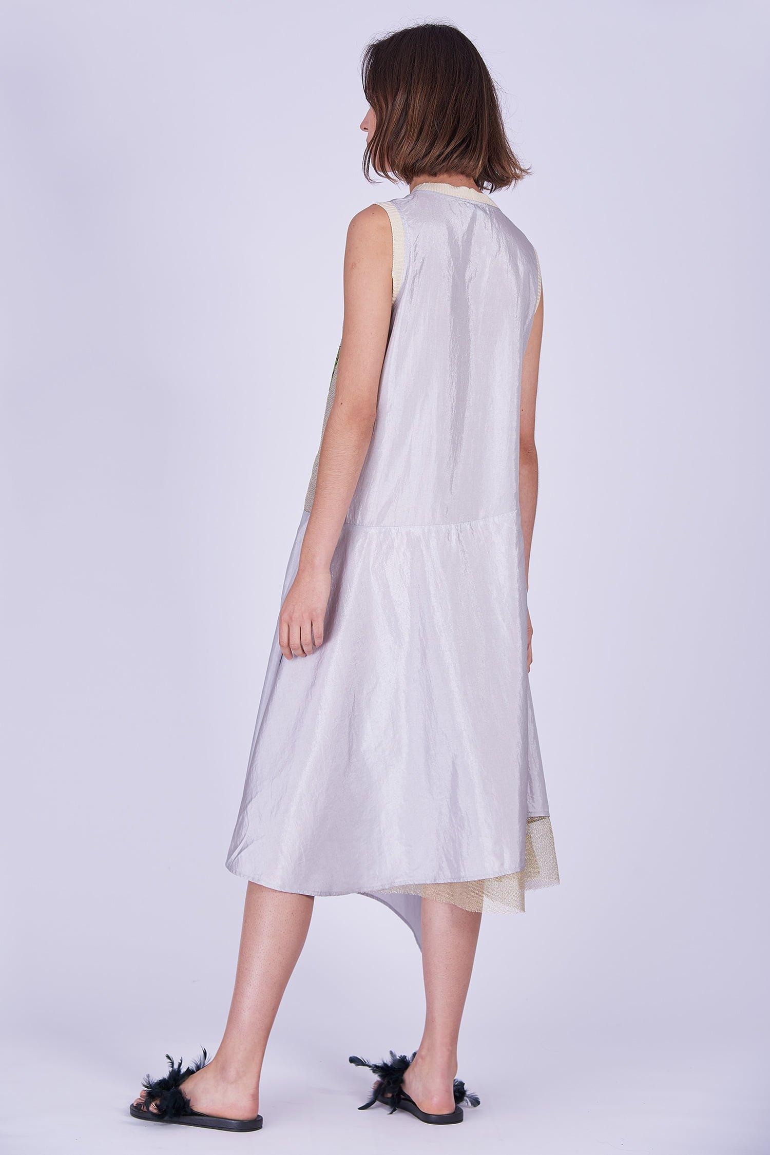 Acephala Ss2020 Sleeveless Summer Dress Letnia Sukienka Back Side 2