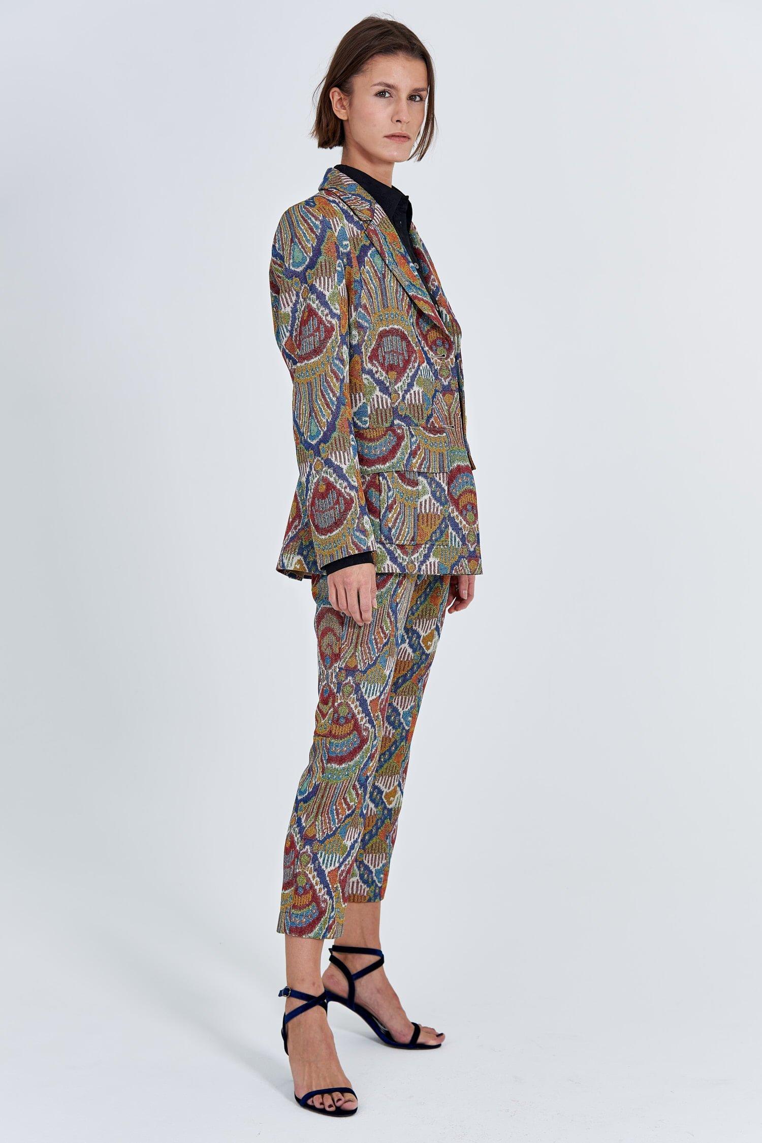Acephala Fw 2020 21 Jacquard Suit Jacket Front Side