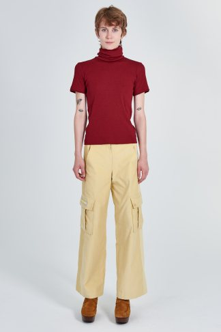 Acephala Fw 2020 21 Red Turtleneck Yellow Corduroy Trousers