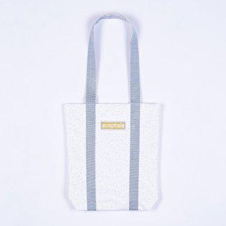 Acephala Fw20 White Tote Bag Blue Straps With Logo