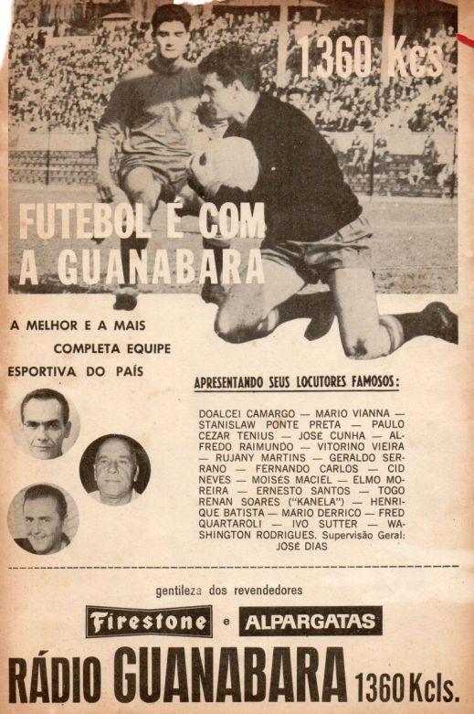 F 02 - 1964 - Ru00E1dio Guanabara - equipe esportiva