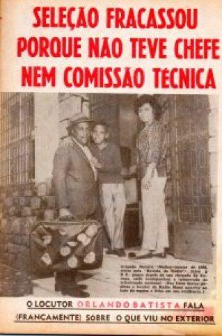 1963 - Rádio Mauá - Orlando Baptista, o filho Luís  Orlando e esposa - cobertura da excursão da seleção brasileira na  Europa