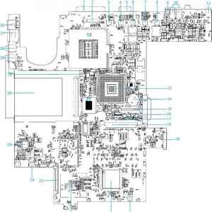 System Block Diagram  Acer Aspire 1300  Acer Laptop Repair Guides