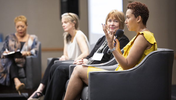 Dr. Candice Jones speaking at the Creating a Resilient Community: From Trauma to Healing Conference in Orlando, Florida on April 3rd, 2019.
