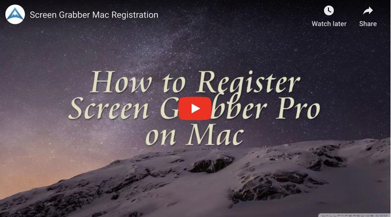 Registrieren Sie Screen Grabber Pro für Mac