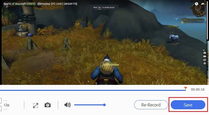 Rekord World of Warcraft Schritt 5