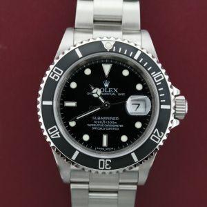 Men's Rolex Submariner 16610T Stainless Steel Black Dial & Bezel Insert