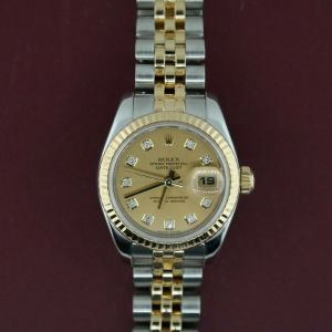 Ladies-Rolex-Datejust-179173-Two-Tone-Champagne-Diamond-Dial-Jubilee-Band-2005