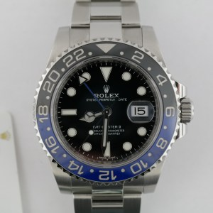 Men's Rolex GMT-Master II 116710BLNR Blue & Black Ceramic Bezel Oyster Band 2017