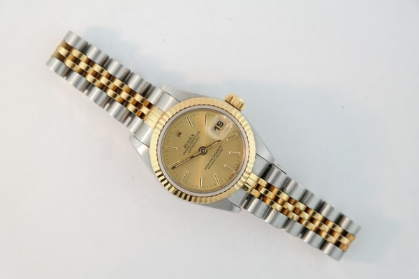Ladies Rolex Datejust 69173 Two-Tone Champagne