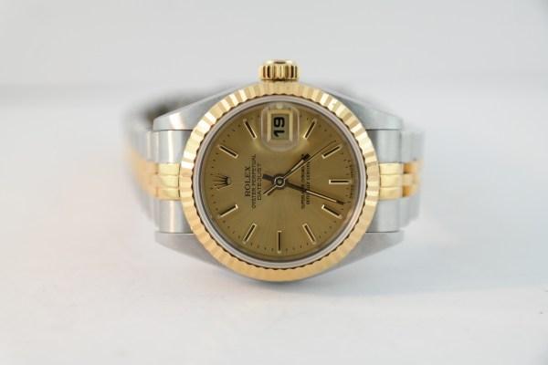 Ladies Rolex Datejust 69173 Two-Tone Champagne