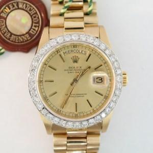 Rolex Day-Date 18038 Diamond Bezel