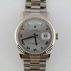 Rolex Day-Date 118239 Rhodium Roman Dial