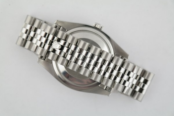 Rolex Datejust 116200 Rhodium Roman Dial Jubilee Band Smooth Bezel