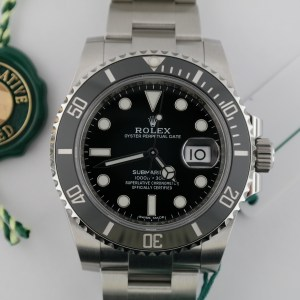 Men's Rolex Submariner Date 116610LN Black Ceramic Bezel Black Dial Year 2019