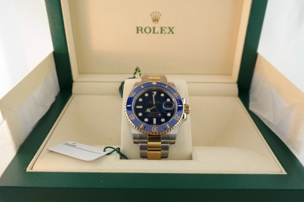Rolex Submariner 116613LB Two-Tone Blue Ceramic Blue Dial
