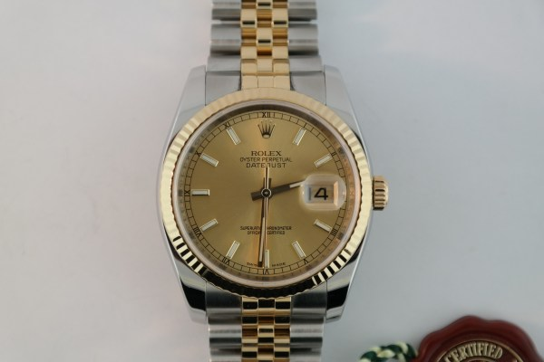 Men's Rolex Datejust 116233 Two-Tone Jubilee Band Year 2007
