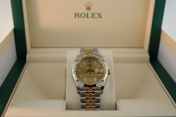 Rolex Datejust 126233 Two Tone Champagne Index Dial Jubilee Band Year 2019