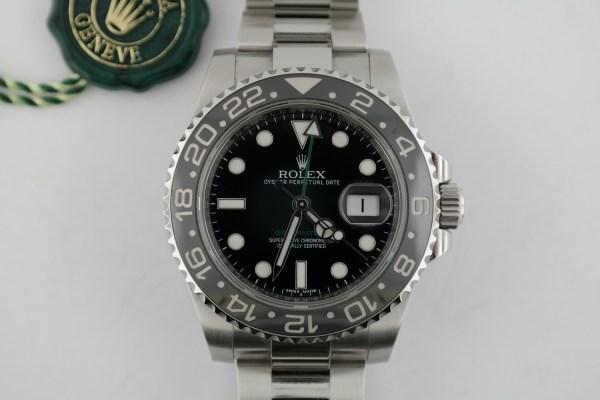 Men's Rolex GMT-Master II 116710LN Black Ceramic Bezel & Dial Oyster Band 2018