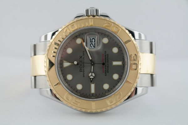 Men's Rolex Yacht-Master 16623 Two-Tone Silver Steel Dial Box & Papers Year 2011