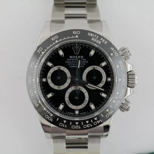 Men's Rolex Daytona 116500LN Black Ceramic Bezel & Dial Oyster Band Unworn 2020