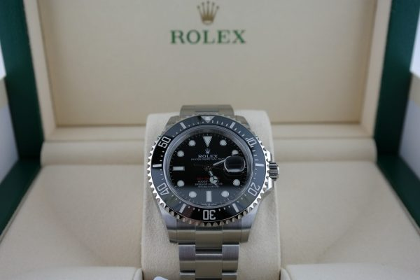 "Men's Rolex Sea-Dweller 126600 ""Red Sea"" Stainless Steel 43mm Box & Paper 2020"