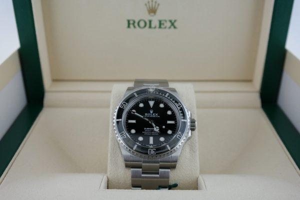 Men's Rolex Submariner 124060 Black Ceramic Bezel & Dial 41mm Oyster Band 2020