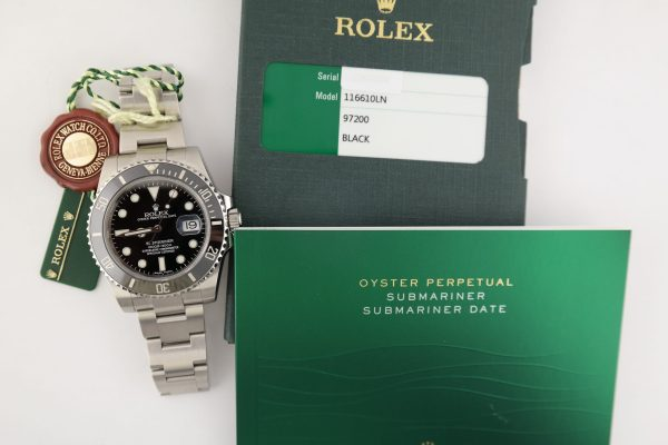 Rolex Submariner 116610LN Black Ceramic Bezel 40mm Oyster Band Box & Papers 2015